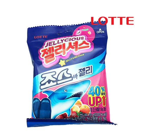 Lotte Gummy Jaws Bar Jelly (70g) - CoKoYam