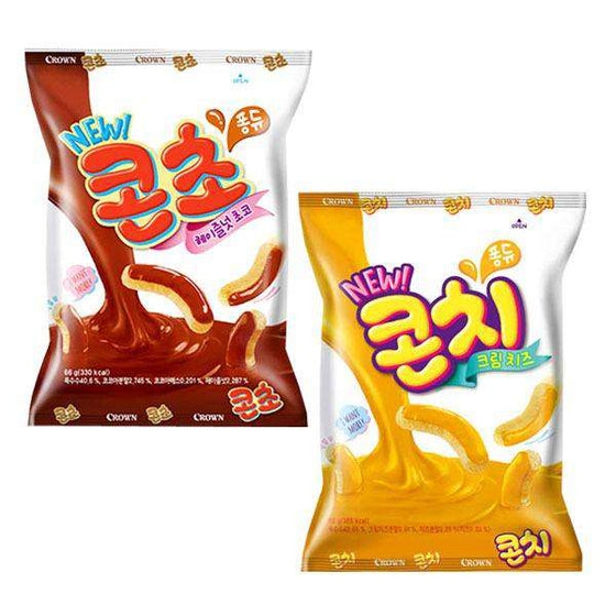 Crown Corn Hazelnut Choco Flavor Snack (Corn Cho) (66g) - CoKoYam