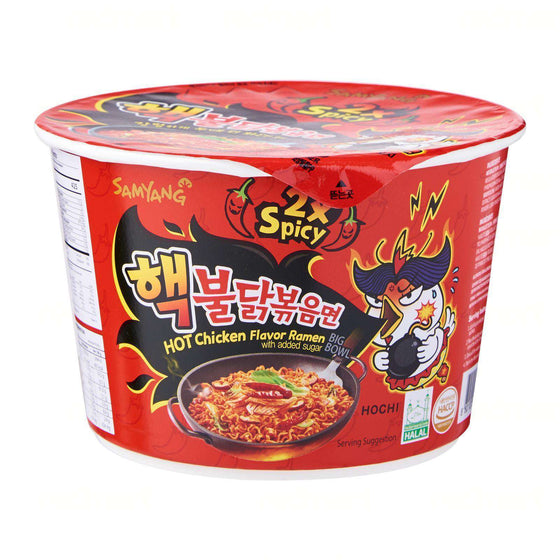 Samyang 2X  Spicy Hot Chicken Big Bowl - Buldak Ramen (105g) - CoKoYam
