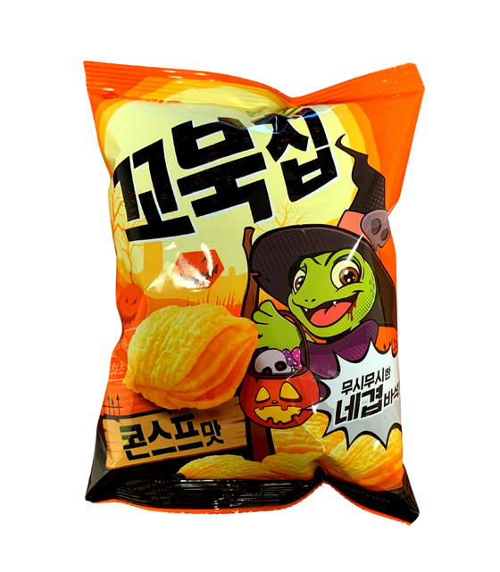Orion Happy Halloween Turtle Chips Cornsoup(65g) - CoKoYam