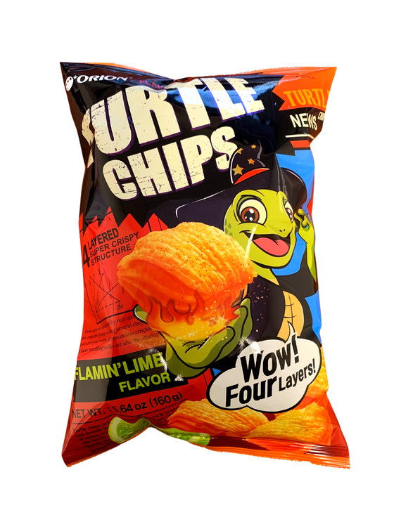 Orion Happy Halloween Turtle Chips Flamin' Lime (160g) - CoKoYam