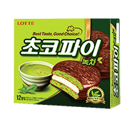 Lotte Chocopie Green Tea 1Pack(28g), 12Pack(336g) - CoKoYam