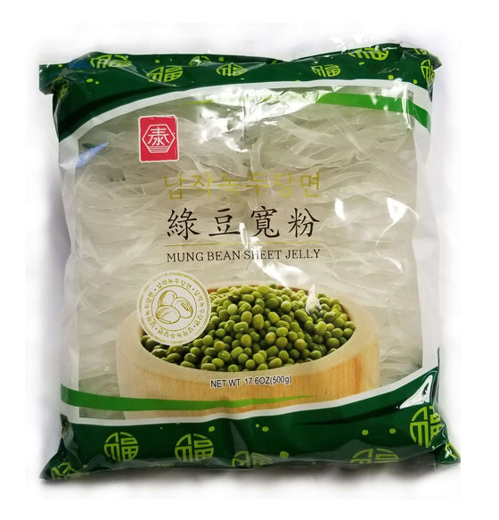 TAE Mung Bean Wide Glass Noodle (180g, 500g) - CoKoYam