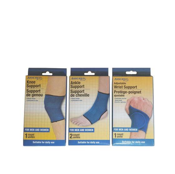 Assured Wrist/Ankle/Knee Support 3 Combo - CoKoYam