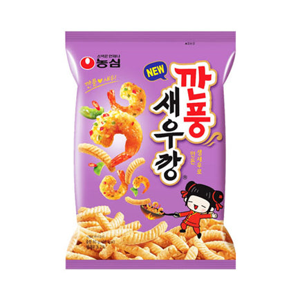 Nongshim Shrimp Crackers Hot Pepper (80g) - CoKoYam