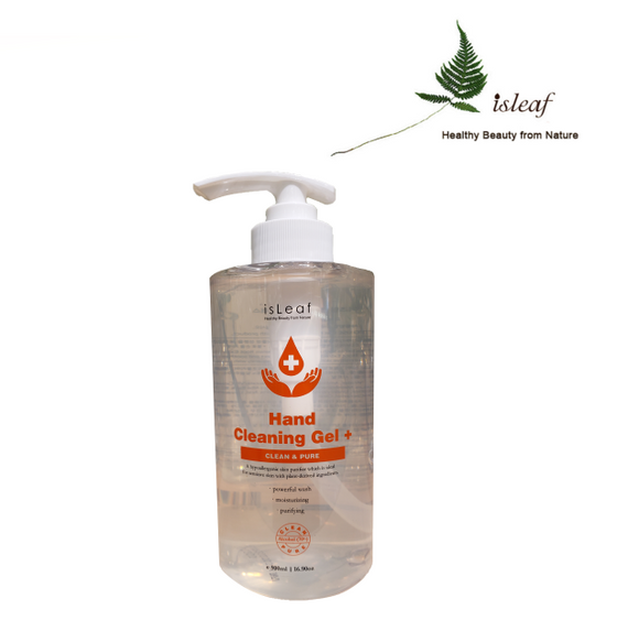 C Three Isleaf Premium Hand Cleaning Pumping Gel w/Alcohol 70% 500ml-[Discounted Item] - CoKoYam