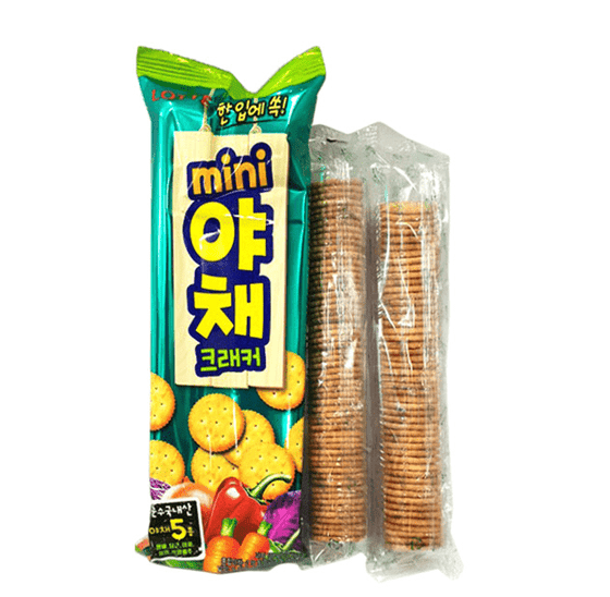 Lotte Veggie Crackers Big Pack (138g) - CoKoYam