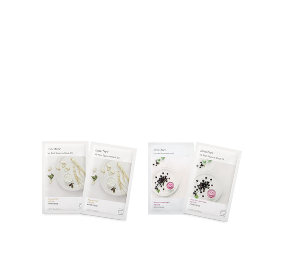 INNISFREE My Real Squeeze Masks - Each 2 Packs and Combo Sets - CoKoYam