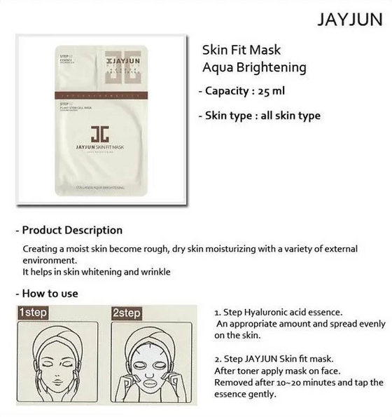 JAYJUN Skin Fit Mask 2 Step (10 Sheets) - CoKoYam
