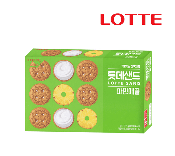 Lotte Sand Pineapple Cracker (105g, 315g) - CoKoYam