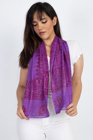 Handmade Om Yoga Prayer Shawl/Scarf 41162 - CoKoYam