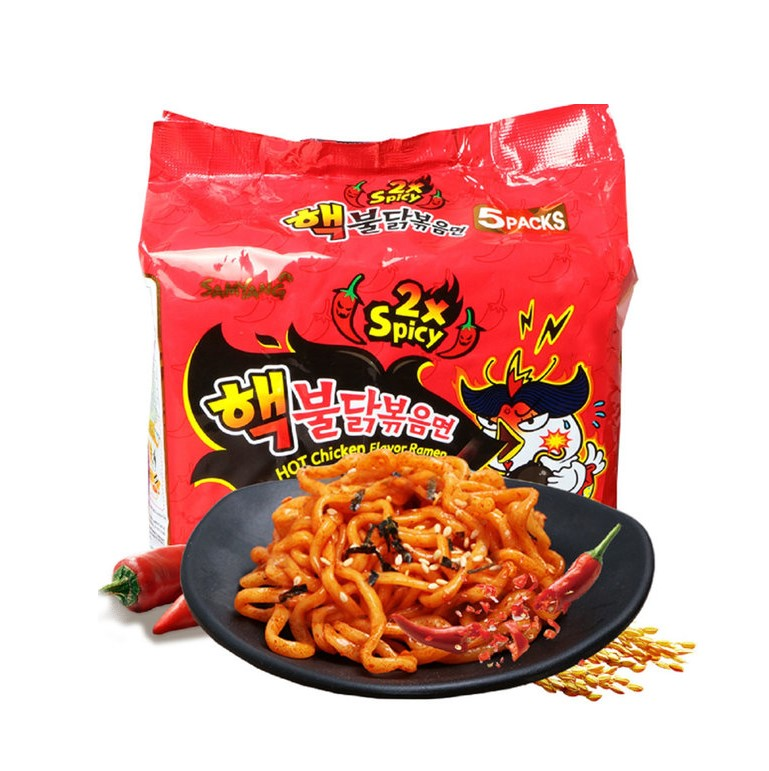 Samyang 2X Spicy Hot Chicken Ramen Pack - Buldak Ramen (700g-5PK) - CoKoYam