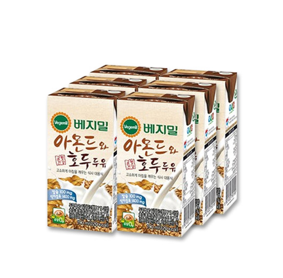 DR.CHUNG'S FOOD VEGEMIL Soy Milk Almond & Walnut (190mlx6PK, 190x16PK) - CoKoYam