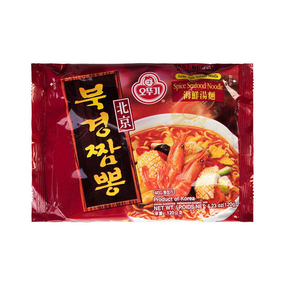 Ottogi Beijing Spicy Seafood Noodle Pack (120g, 600g-5PK) - CoKoYam