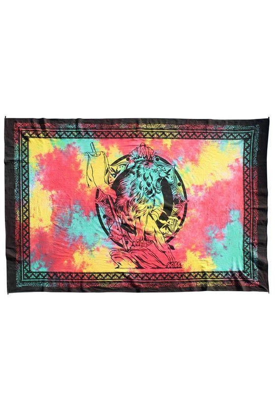 Closet Signature Lion of Judah Rasta Tie-Dye Tapestry - [Free Shipping Item] - CoKoYam