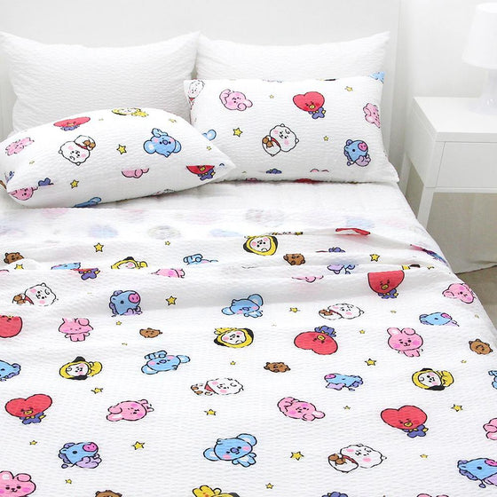 BT21 Ripple Duvet(1 EA) & Pillow Cover(2 EA) Set - [discounted item] - CoKoYam