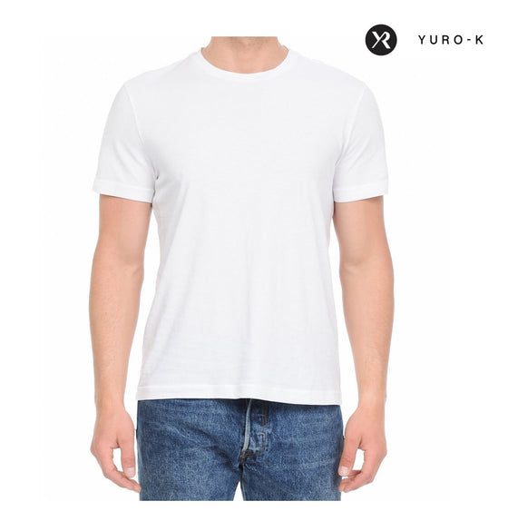 YURO-K Men's Garment Dyed Essential Crew Neck T-shirt - CoKoYam