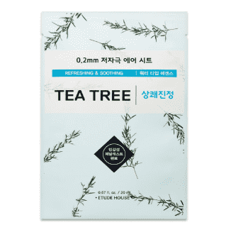 Etude House 0.2mm Therapy Air Mask #Tea Tree - CoKoYam