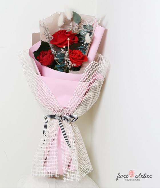 FIORE ATELIER Preserved Fresh Luxury Rose Bouquet for Valentine Day Gift - [Free Shipping Item] - CoKoYam
