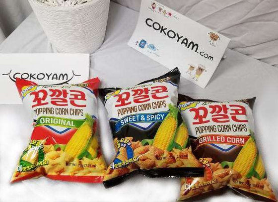 Lotte Popping Corn Chip Original (72g) - CoKoYam
