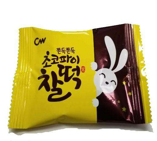 Chungwoo Rice Cake Cookie Chocolate 1Pack(21.5g), 12Pack(258g) - CoKoYam