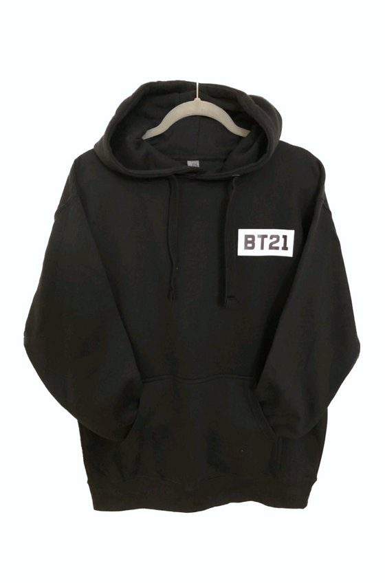 BT21 Back Appearance Unisex Pullover Hoodie Sweatshirt with Pocket - CoKoYam