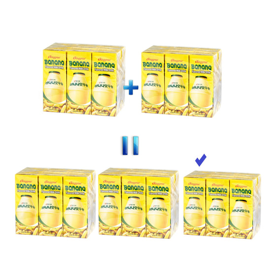 2+1 Special Binggrae Banana Milk (200ml x 6pack x 3) - [Special promotion] / Qualification: This purchase must be your 3rd order or up - CoKoYam