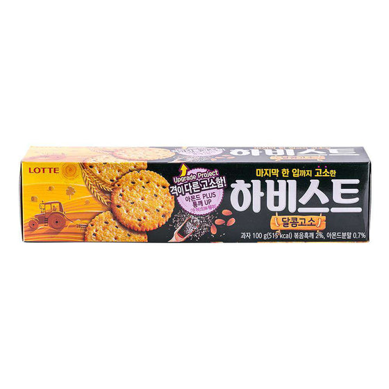 Lotte Harvest Cracker Sweet & Nutty (100g) - CoKoYam