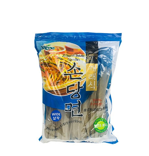 Jayone Dried Extra Wide Flat Glass Noodle-Sweet Potato (2.2lbs) - CoKoYam