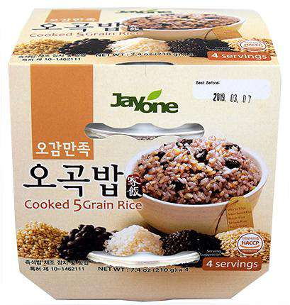 Jayone Cooked Rice 5 Grain Bowl (210g, 4 x 210g) - CoKoYam