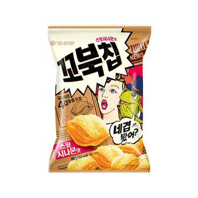 Orion Turtle Chip Sweet Cinnamon (80g) - CoKoYam