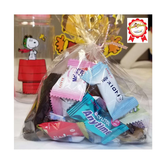 COKOYAM Mini Korean Candy Gift with Snoopy Water Bottle (Over 20 Candy Pieces) - CoKoYam