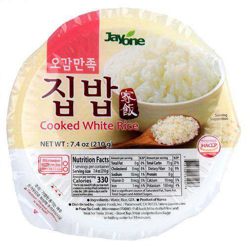 Jayone Cooked Rice White Bowl (210g x 12) - [Discounted Item] - CoKoYam