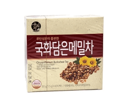 Songwon Chrysanthemum Buckwheat Tea 40 Tea Bags (60g) - CoKoYam