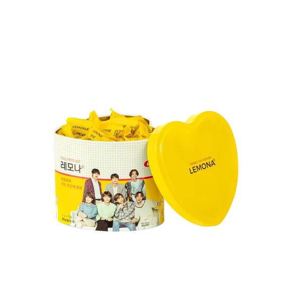 BTS Love Heart Lemona Powder Pack Can Case - [Discounted Item] - CoKoYam