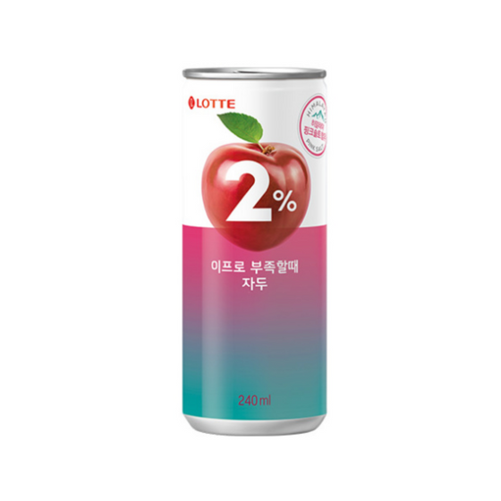 Lotte 2% Plum Can (240ml x6) - CoKoYam