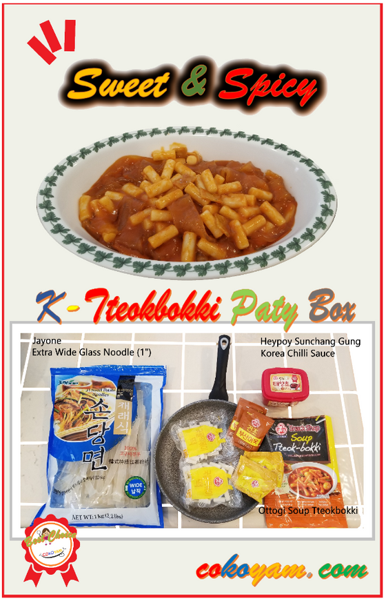 COKOYAM K-Tteokbokki with Extra Wide Glass Noodle Family Serving Combo - CoKoYam
