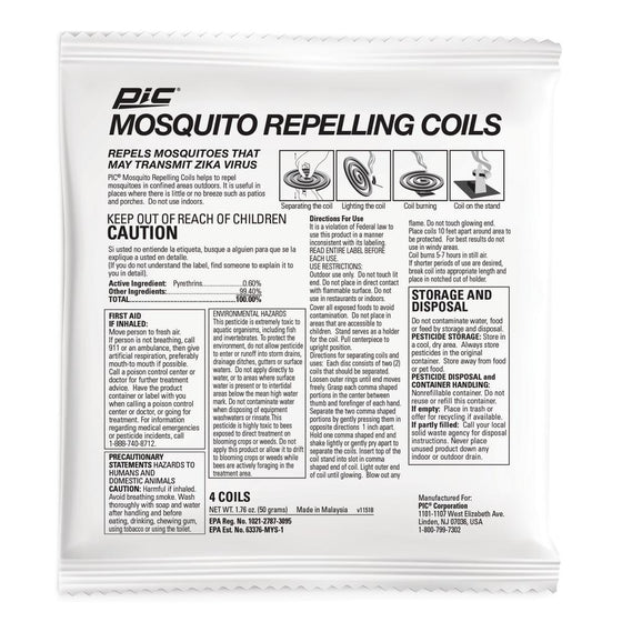 PIC Mosquito Repelling Coil - (4Coils) - CoKoYam