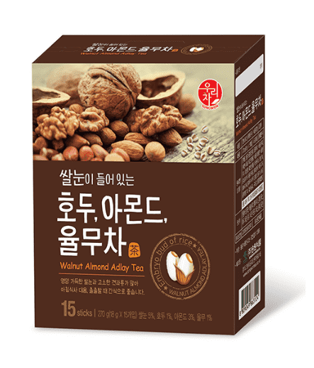 Songwon Walnut Almond Job's Tears Tea 15 Sticks (270g) - CoKoYam