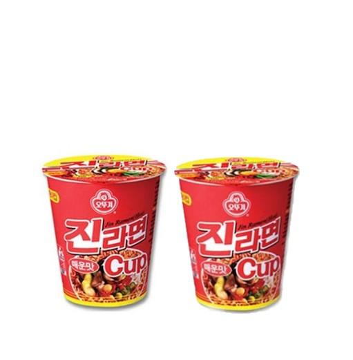Ottogi Jin Ramen Spicy Cup (65gx2Cups) - Maximum order: 6 - CoKoYam