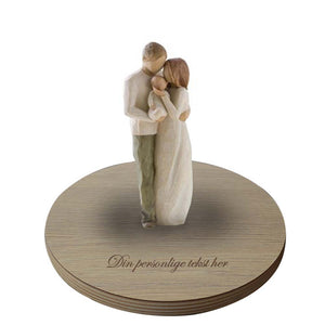 Figuren Our gift med base fra willow tree