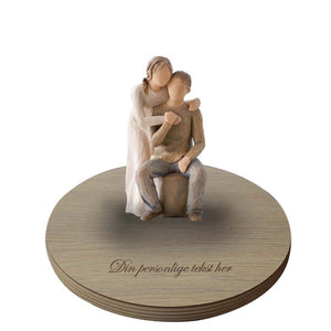 Willow tree figuren you and me med base