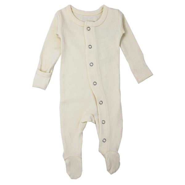 L'ovedbaby Organic Gl'oved Footed Overall - Beige