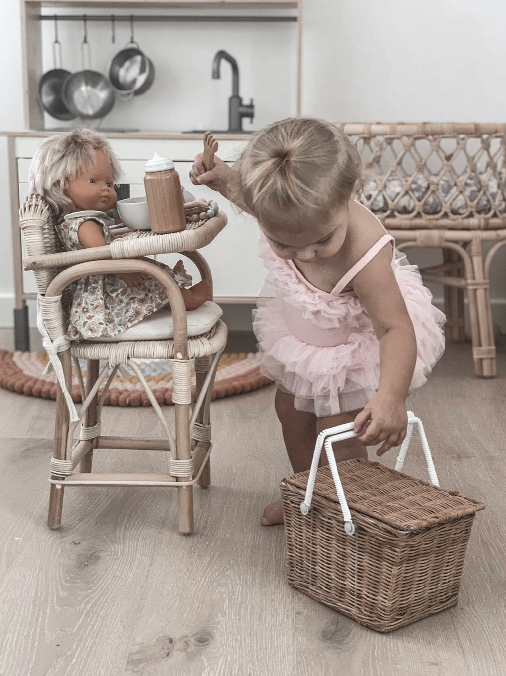 Rattan Dolls Highchair - PRE ORDER