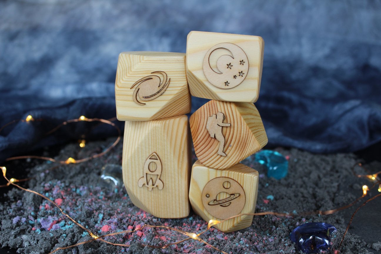 Space Playdough Stamps/Block Set