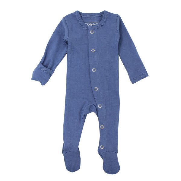 L'ovedbaby Organic Gl'oved Footed Overall - Slate