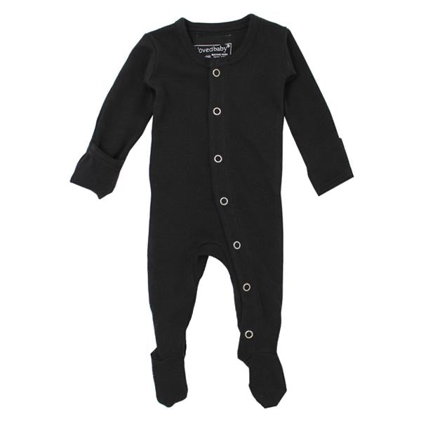 L'ovedbaby Organic Gl'oved Footed Overall - Black