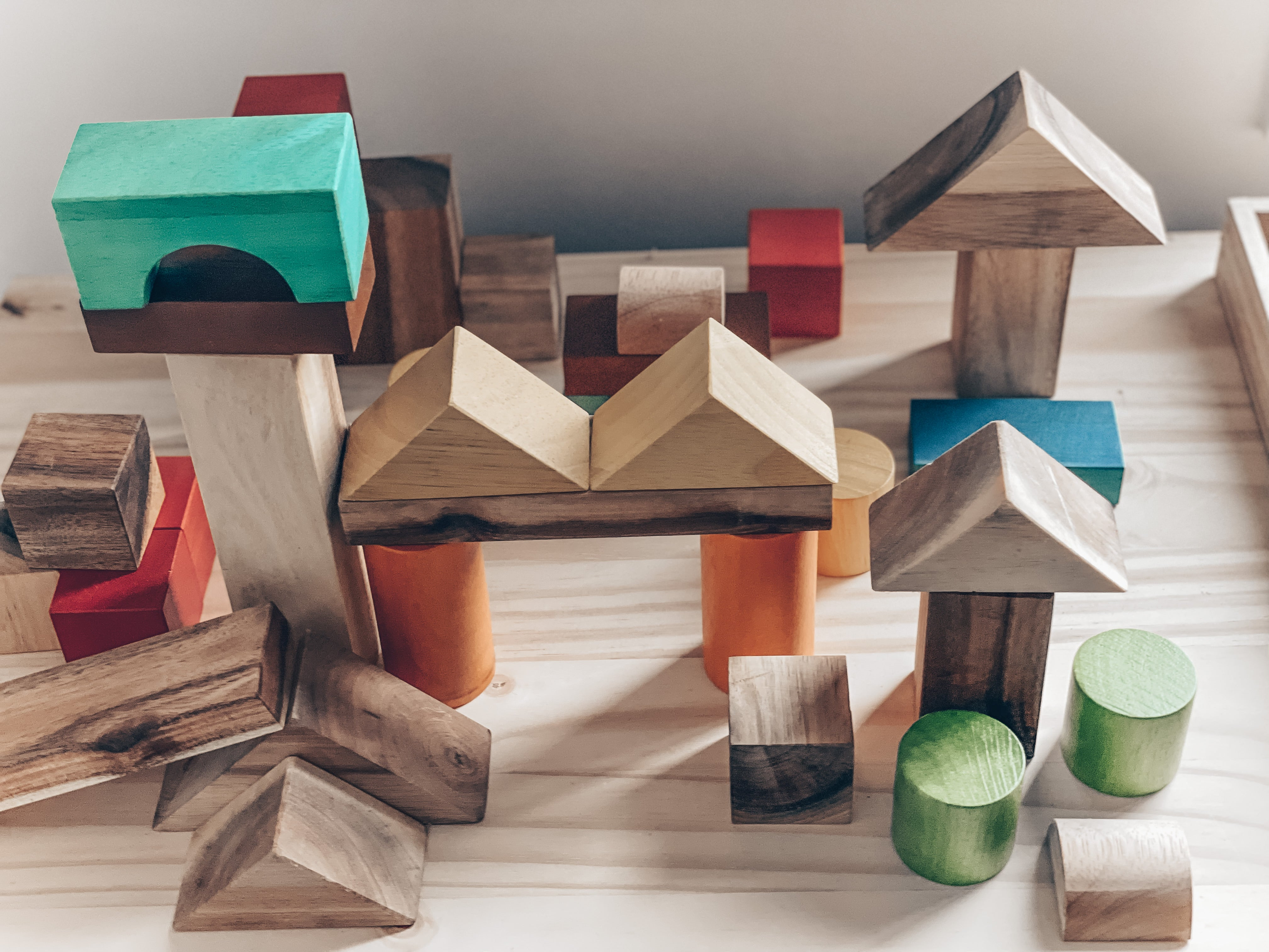 Natural color wooden blocks