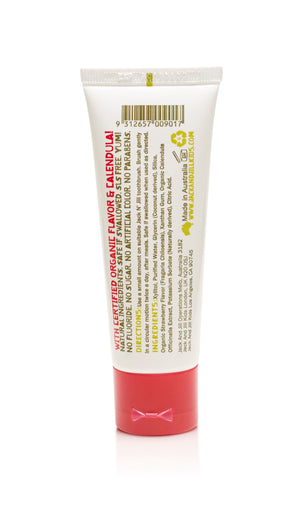 JACK N JILL NATURAL TOOTHPASTE ORGANIC STRAWBERRY 50G