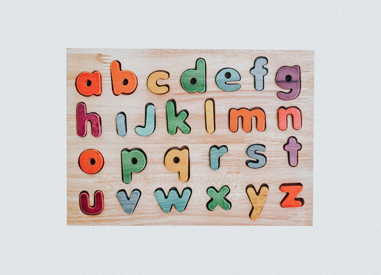 Alphabet Puzzle: Colourful Lowercase